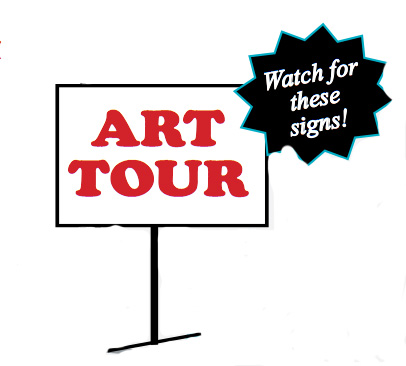 Earth Arts Spring Tour Signage